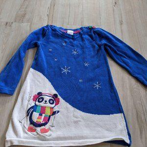 Gymboree knit sweater dress 3t 3 toddler panda ski
